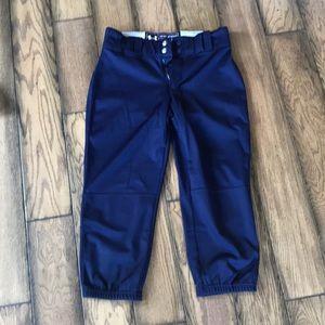 Navy UA softball pants